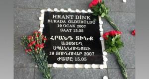 Gedenkstein für Hrant Dink  am Tatort © Bianet