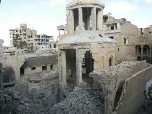 Der Zor  Kirche nach der Zerstörung
