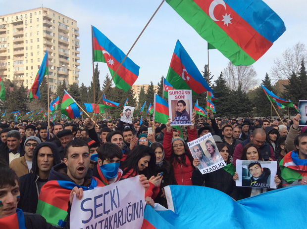 Protest in Baku Copyright XIndex