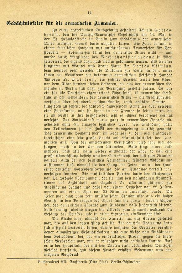 Bericht aus DAK, Nr. 8, 15. Mai 1919_Internet