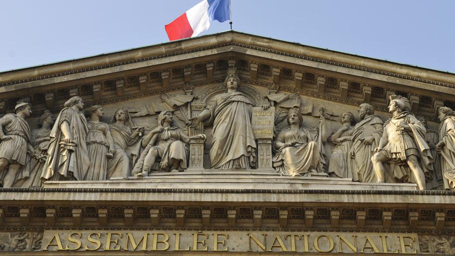 19/09/2008 - le peristyle, la colonnade et le fronton du Palais Bourbon